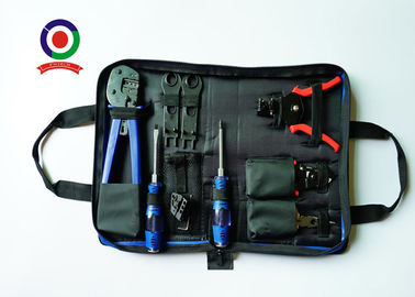 China Blue Solar PV Tool Kits Carbon Steel Material With MC4 Crimping Stripper And Cutter supplier