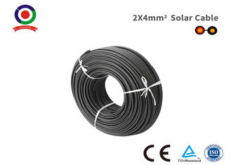 China XLPE Insulated Tinned Copper Black Twin Core Cable 2x4mm2 With CE TUV Certification supplier