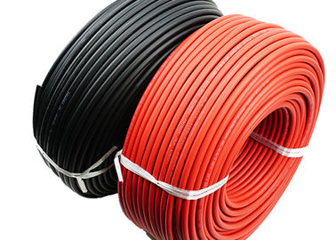 China Oils Resistant TUV Solar Cable 6mm2 Stable Performance High Current Carrying Capacity supplier