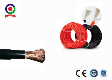 Black / Red Solar PV Cable 10mm2 Tinned Copper Conductor For Solar Power Station