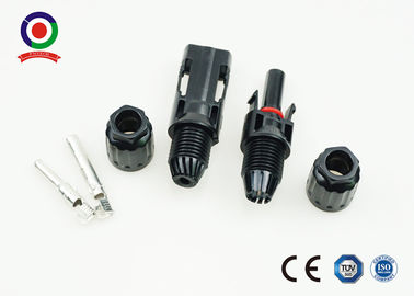 China Black DC MC4 Male And Female Connectors 4000W For Solar System Installation supplier