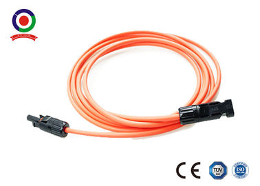 China Flame Free MC4 Extension Cable 10 Feet 4mm2 High Resistance Against Heat supplier