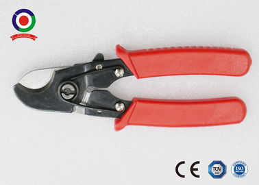 China Heavy Duty Electrical Wire Cable Cutter Chrome Vanadium Safety Red Color supplier