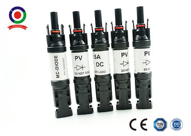 China 25A MC4 Diode Connector Low Power Loss Strong Commonality For PV System supplier