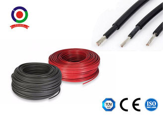 China TUV/RoHS H1z2z2-K UV Resistant -40 Degree 25mm2 PV Wire DC Solar Cable dual XLPE supplier