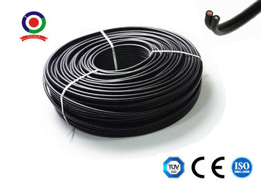 China Flat Twin Core Dc Solar Wire / 6mm Solar Cable Communication XLPE For Power Station supplier