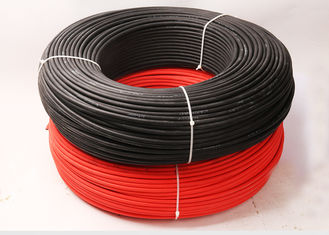 China Hard Wearing Electrical Cable Wire / 4mm Pv1f Photovoltaic Cable For Power System supplier