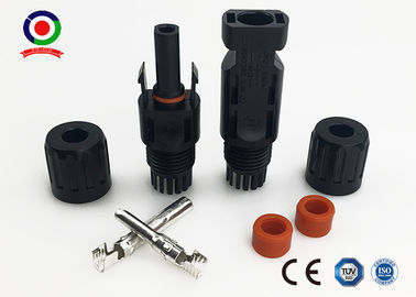 China IP67 Solar Panel Connectors DC 1000V 14AWG 12AWG 10AWG Wire Size Range supplier