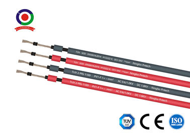 China XLPE Sheath 1x16mm2 DC Solar Cable 230kg/Km Weight For Power Station supplier