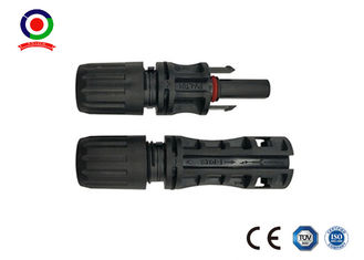 Simple Solar Power Male And Female Connectors 1500V DC Rated Voltage High Mechanical Endurance