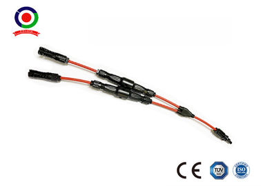 China IP67 Protection Solar Branch Connector 35cm Cable Length 30A Rated Current supplier
