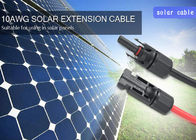 Flame Free MC4 Solar Cable 4mm2 High Resistance TUV Approved 1000VDC