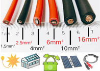Pv Panel DC Solar Cable Double Insulation With Stranded Tinned Copper Conductor