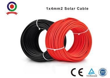 China High Electrical Conductivity Single Core Electrical Cable 6.0mm OD 4.0mm2 Black Or Red distributor