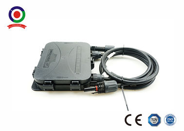 China Black PV Junction Box Ultraviolet Resistant For 200W To 300W Solar Panel distributor