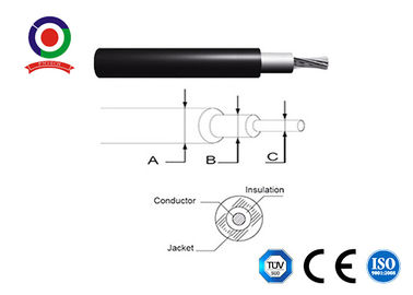 China 6mm2 1000V AC TUV 2pfg1169 Certificated Double Insulated PV DC Solar Cable XLPE distributor