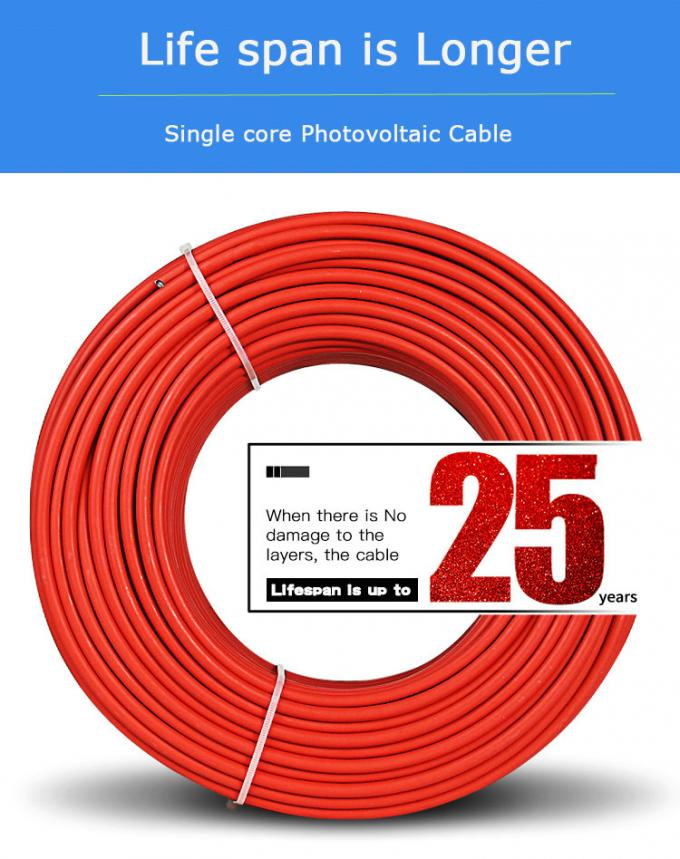 XLPE Insulated Single Core Electrical Cable 1x6mm2 High Current Carrying Capacity