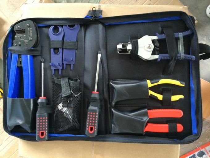Blue Solar PV Tool Kits Carbon Steel Material With MC4 Crimping Stripper And Cutter