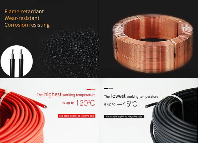 Low Smoke Emission Single Core Solar Cable 16mm² Fire Resistance Performance
