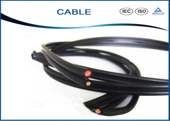 XLPE Insulated Tinned Copper Black Twin Core Cable 2x4mm2 With CE TUV Certification