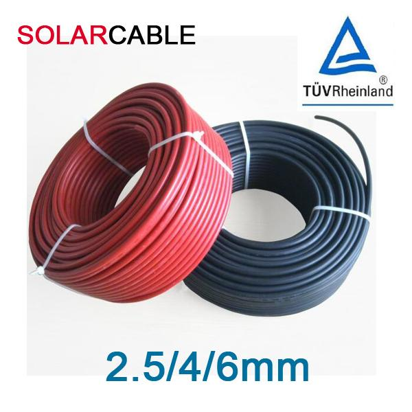 Double Insulated Twin Core Solar Cable , 6mm Dual Core Cable Fire Resistant Performance