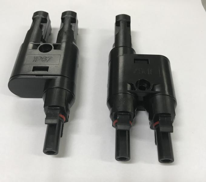 High Safety  T Connector 2 To 1 Durable With Different Insulation Diameters