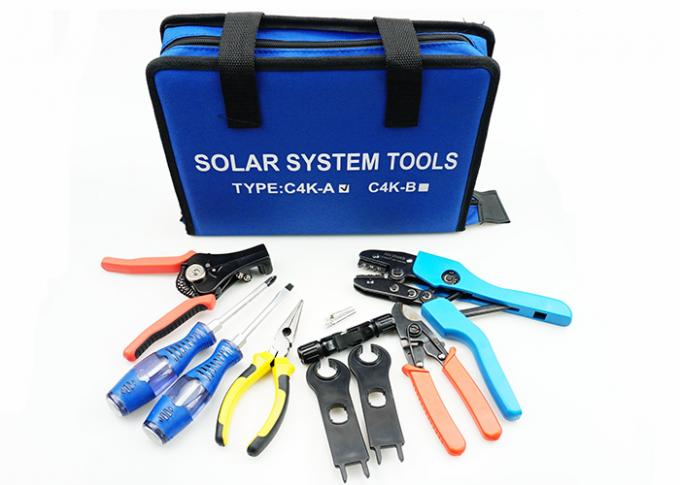 Portable High Precision MC4 Tool Kit , Interchangeable MC4 Connector Crimping Tool