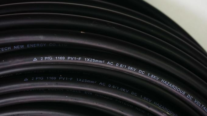 TUV/RoHS H1z2z2-K UV Resistant -40 Degree 25mm2 PV Wire DC Solar Cable dual XLPE 0