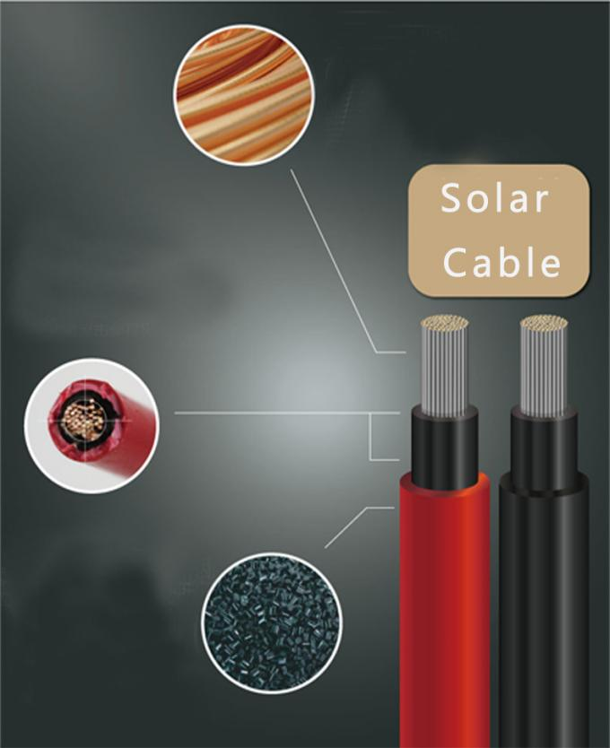 PV Solar Single Core Electrical Cable / Solar Cable 4mm2 2pfg1169 Approved 0