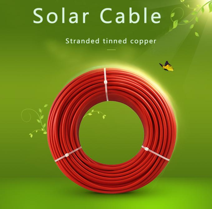 UV Resistant Solar Power Cables H1z2z2K / -40 Degree 4mm Solar Cable 100m