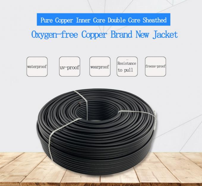 0.8mm Thickness Twin Core Electrical Cable For Photovoltaic Power System