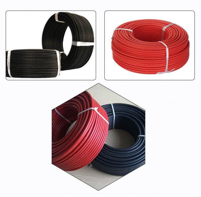5.9mm OD Solar PV Cable Stranded Tinned Copper Conductor XLPE Insulation 0
